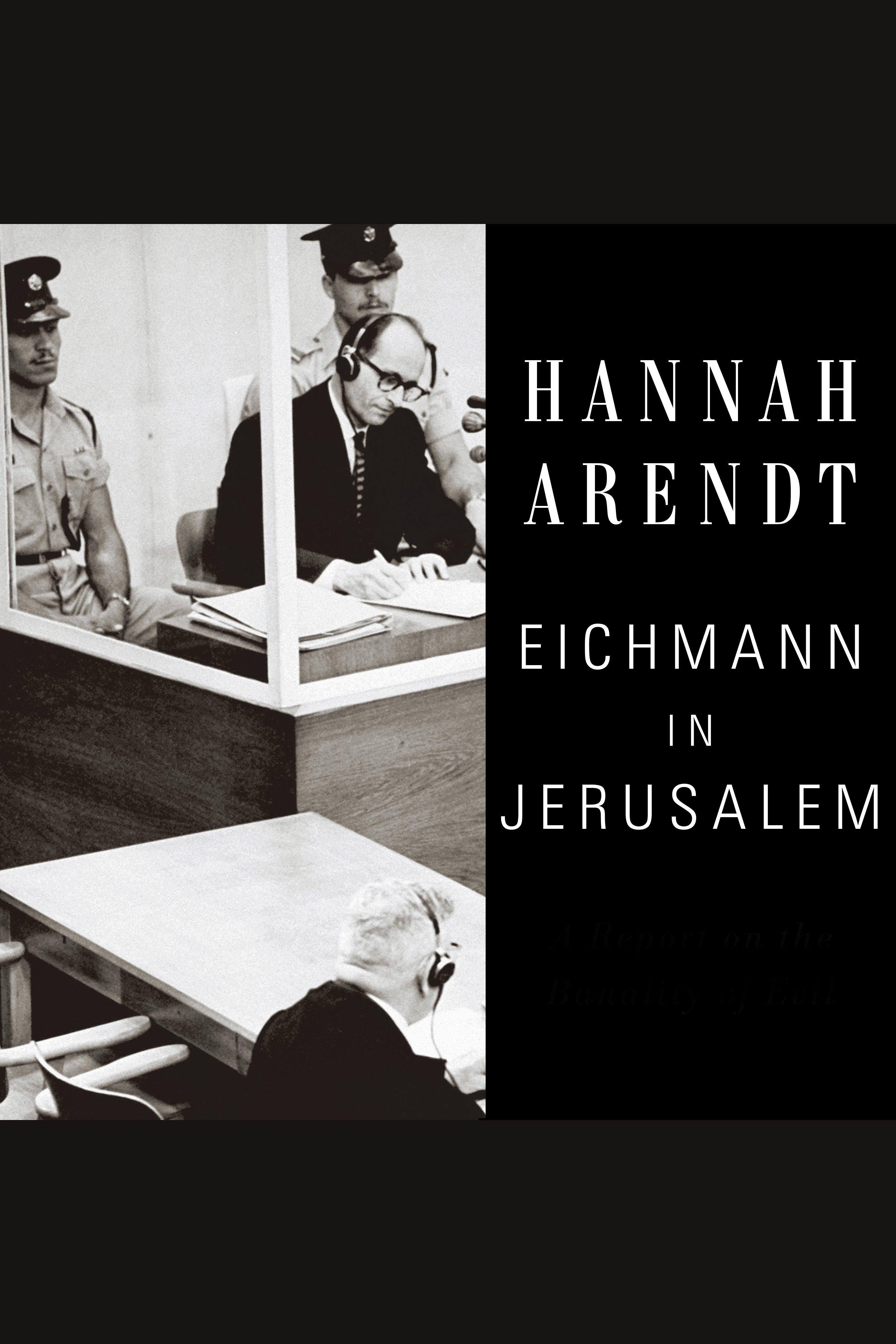 Esta es la portada del audiolibro Eichmann in Jerusalem