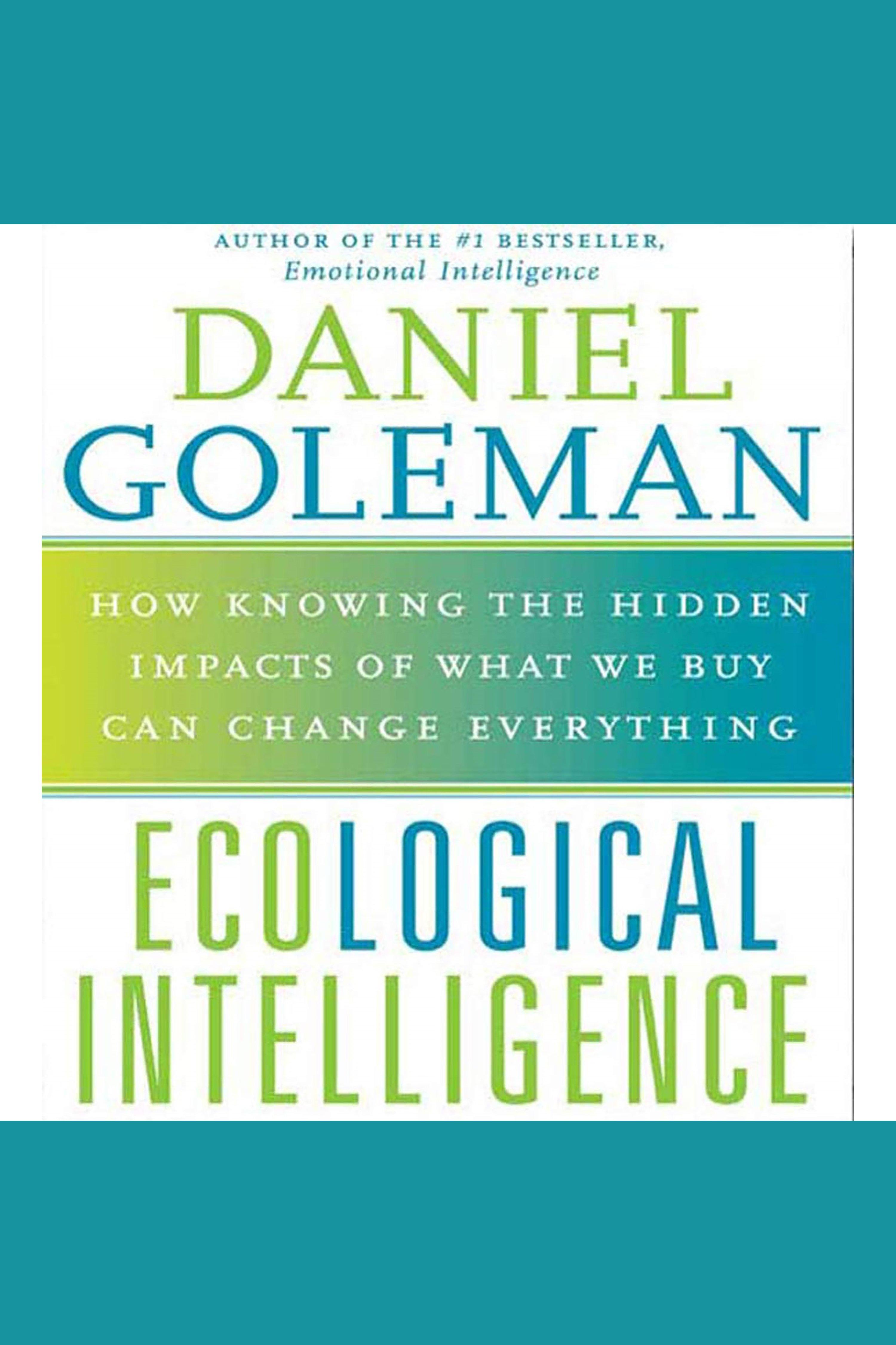 Esta es la portada del audiolibro Ecological Intelligence