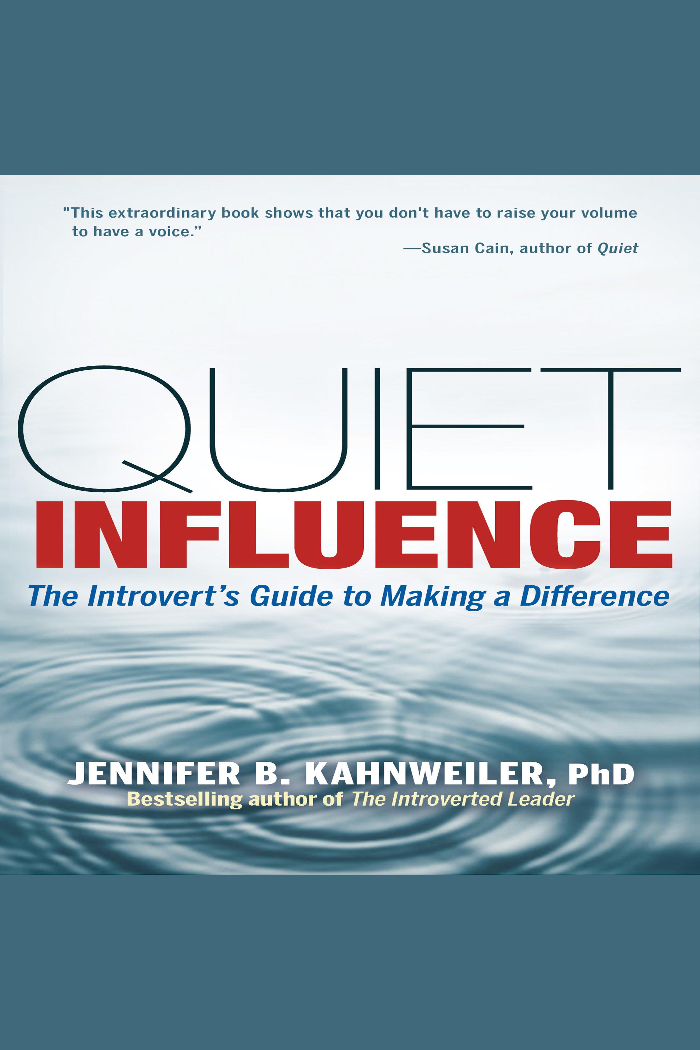 Esta es la portada del audiolibro Quiet Influence
