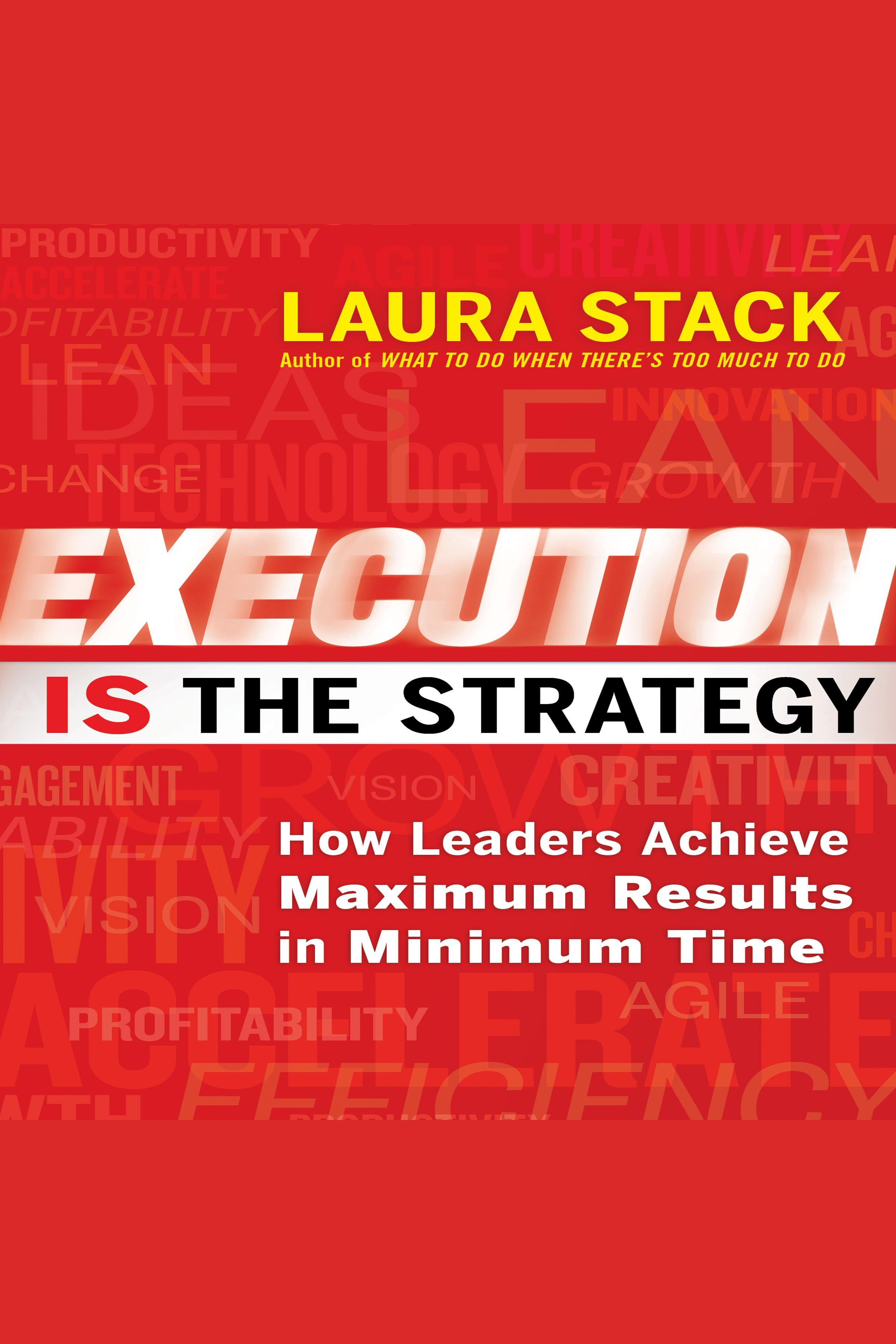 Esta es la portada del audiolibro Execution IS the Strategy