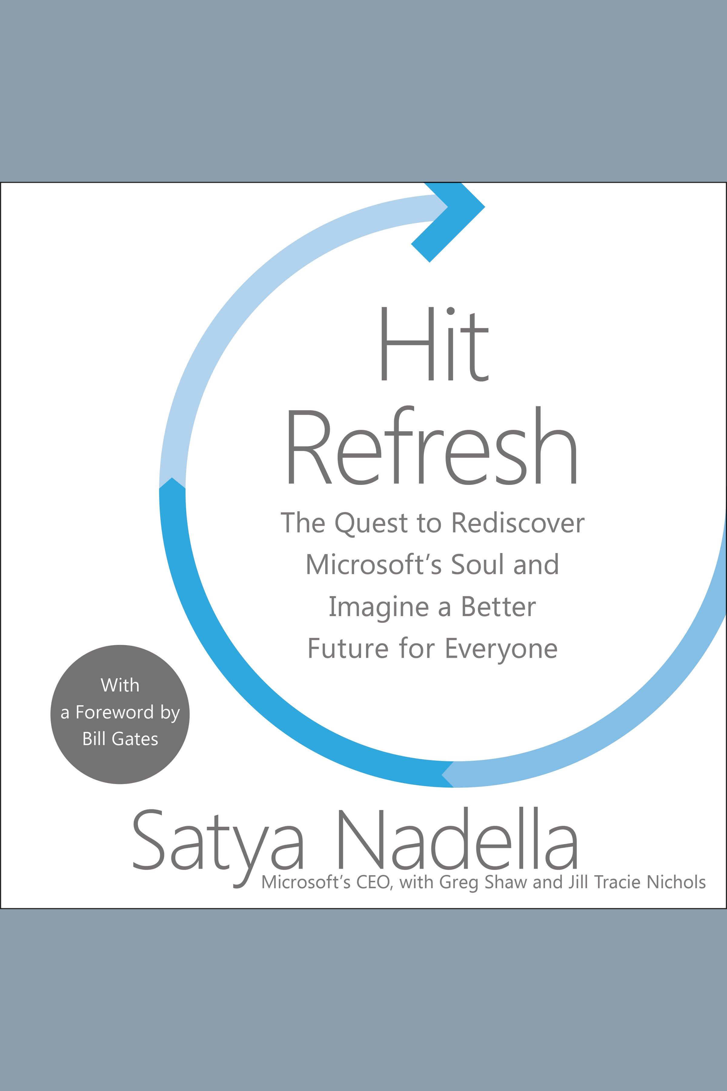 Esta es la portada del audiolibro Hit Refresh