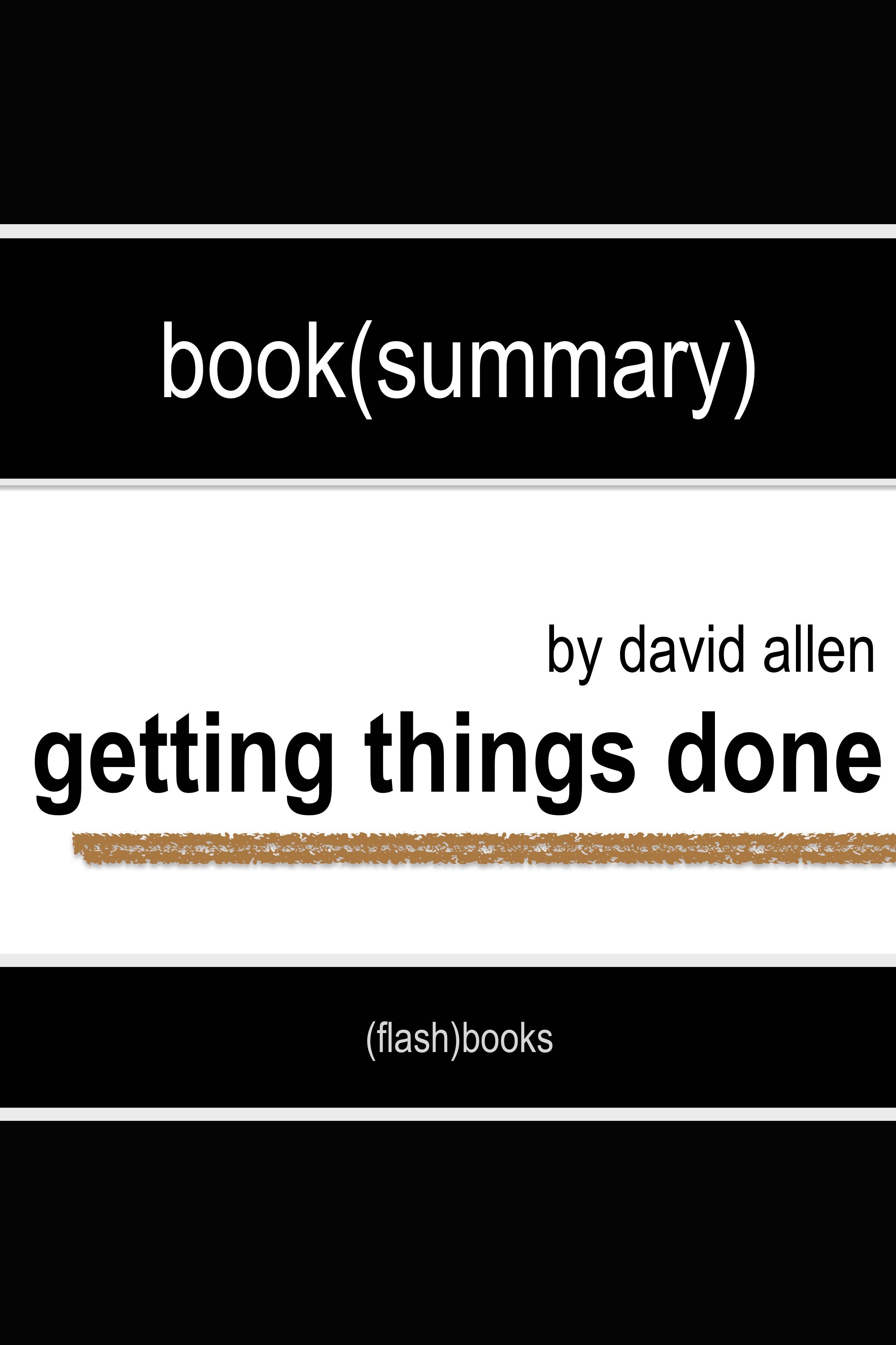 Esta es la portada del audiolibro Book Summary of Getting Things Done by David Allen