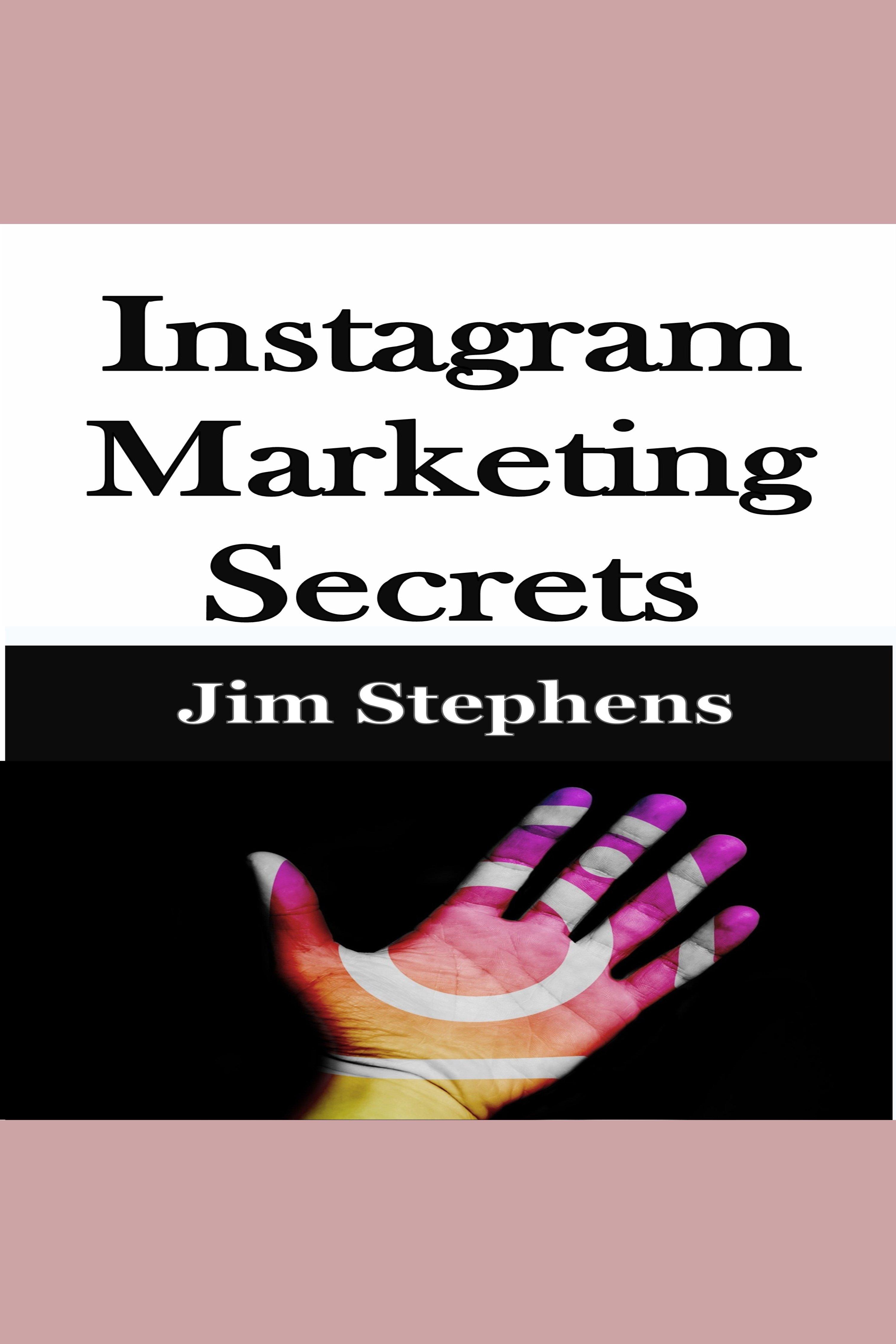 Esta es la portada del audiolibro Instagram Marketing Secrets