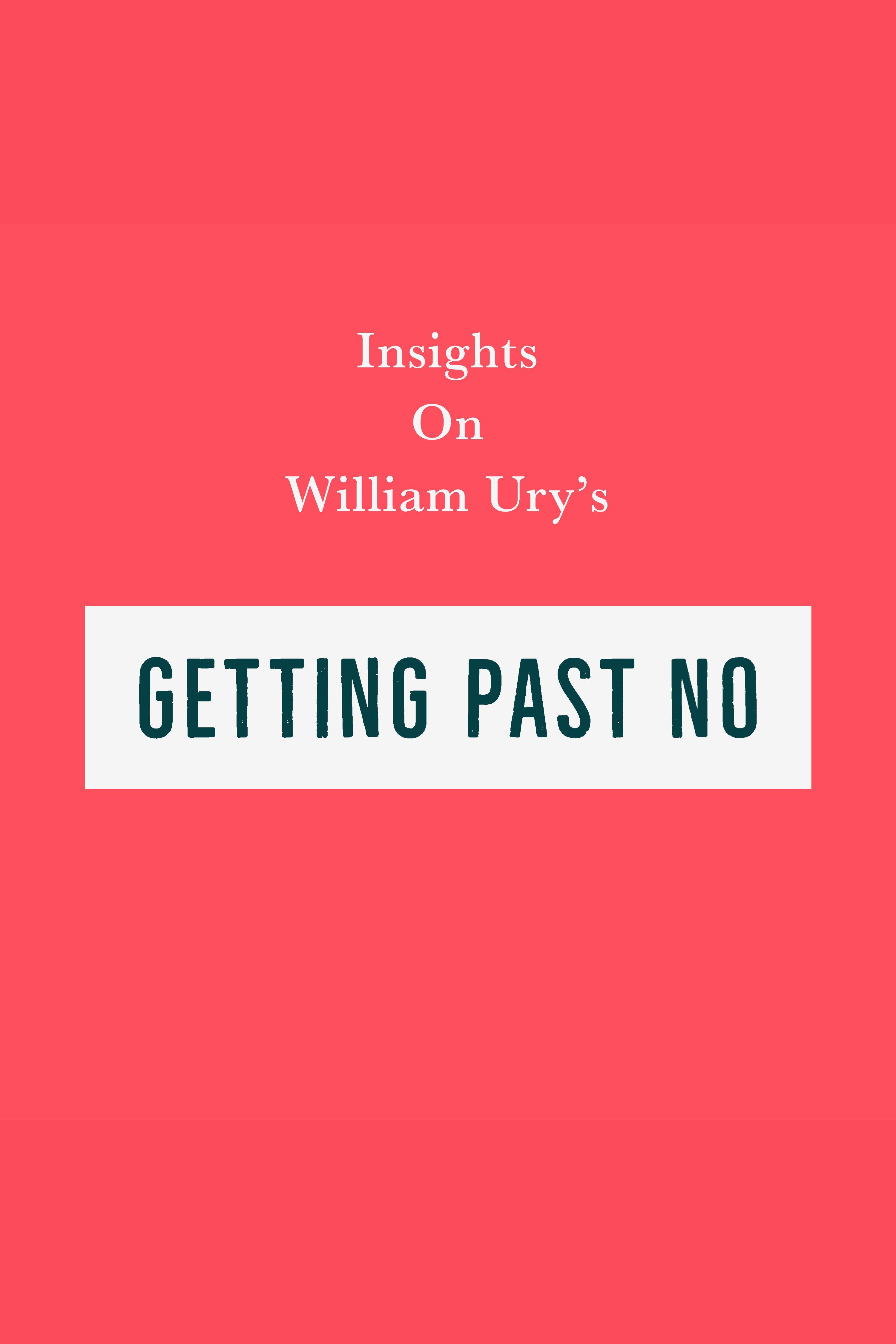 Esta es la portada del audiolibro Insights on William Ury's Getting Past No