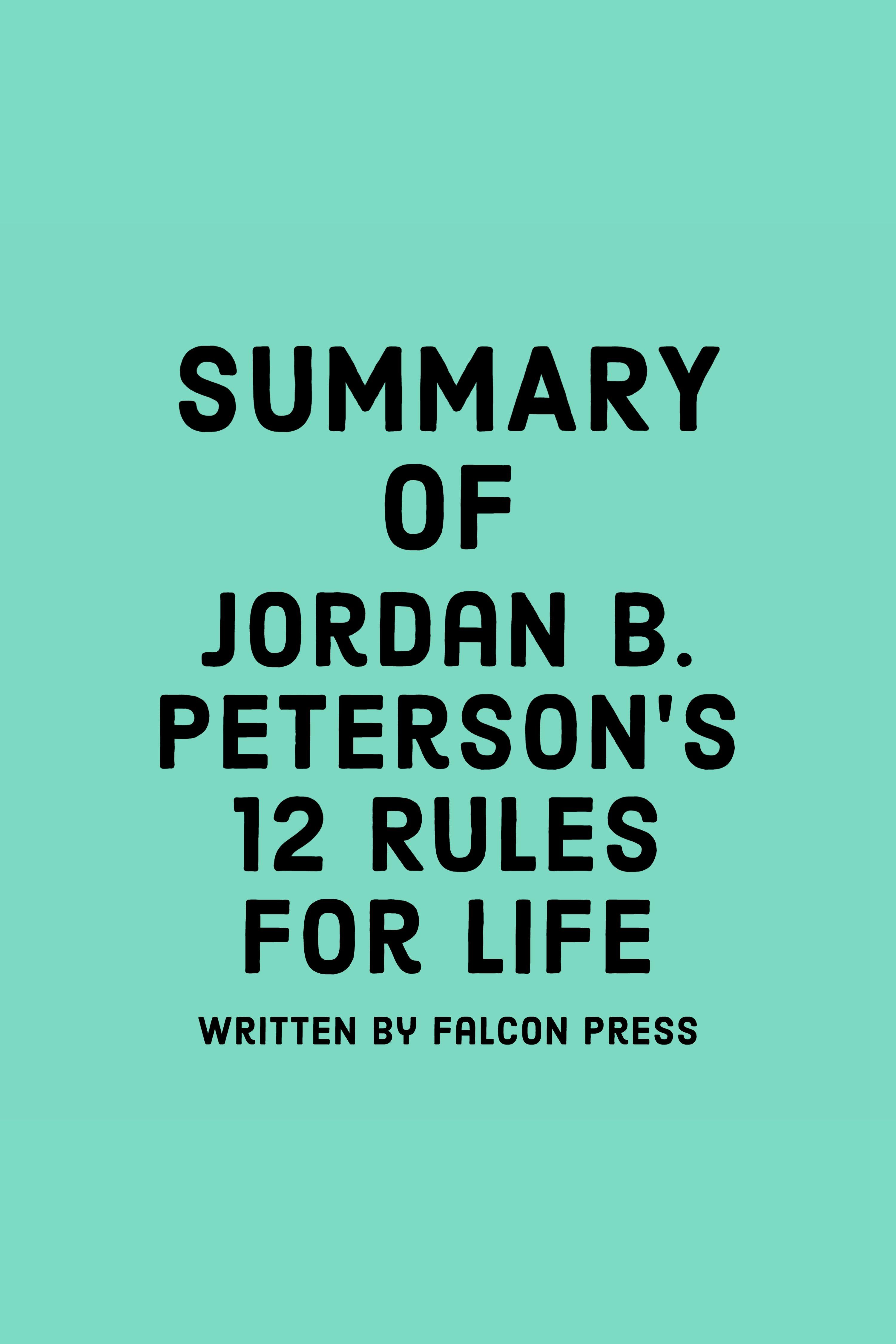 Esta es la portada del audiolibro Summary of Jordan B. Peterson's 12 Rules for Life