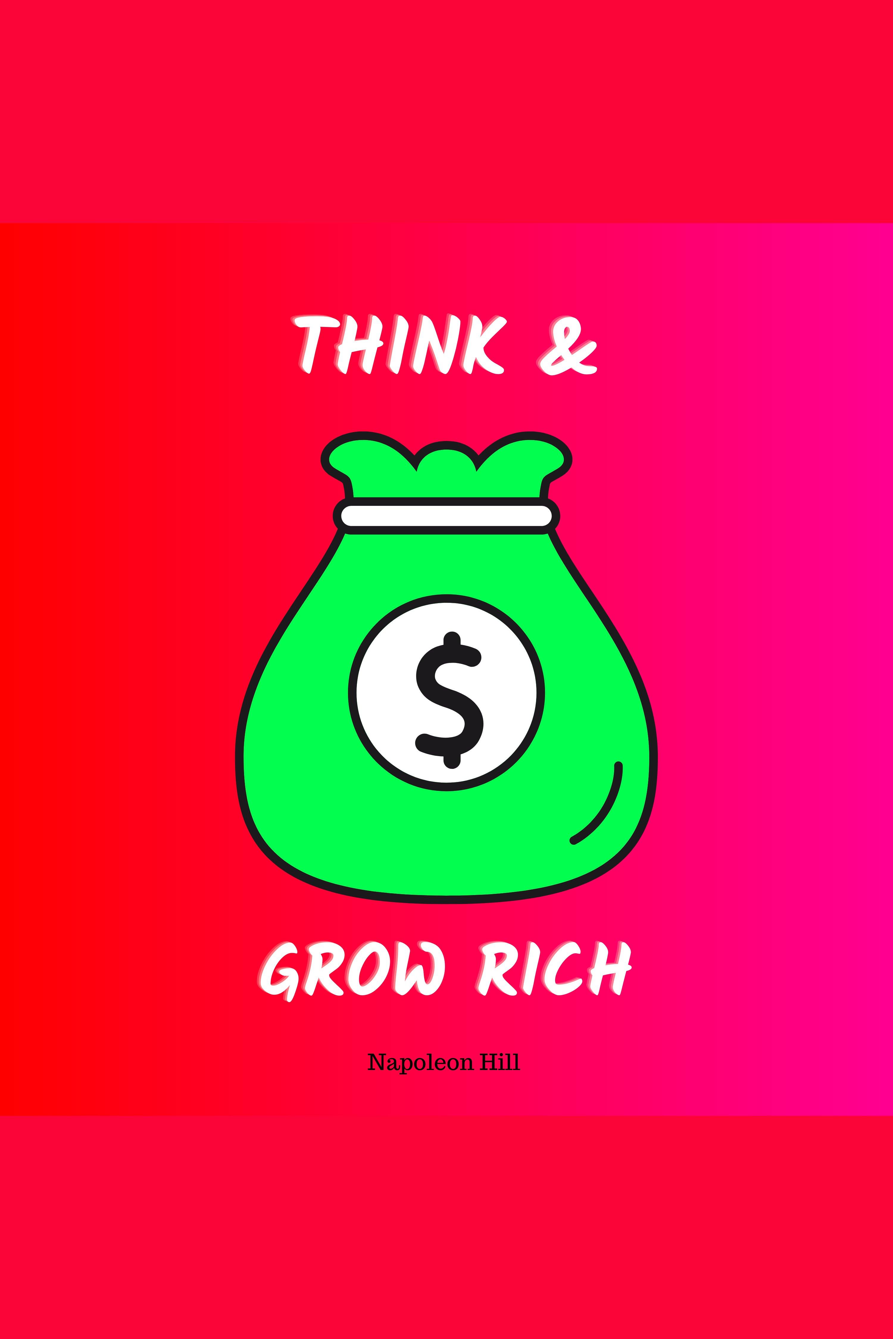 Esta es la portada del audiolibro Think and Grow Rich