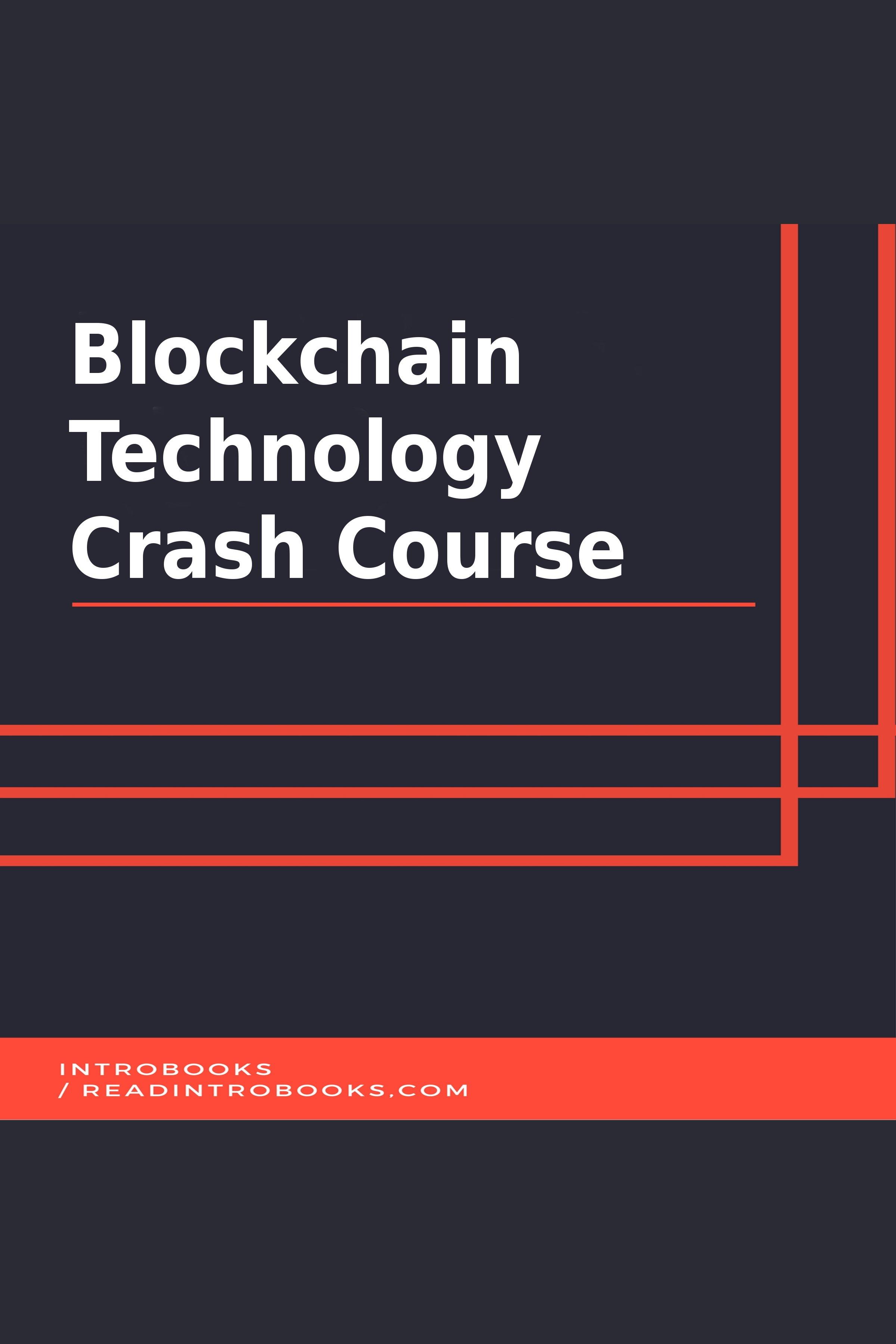 Esta es la portada del audiolibro Blockchain Technology Crash Course