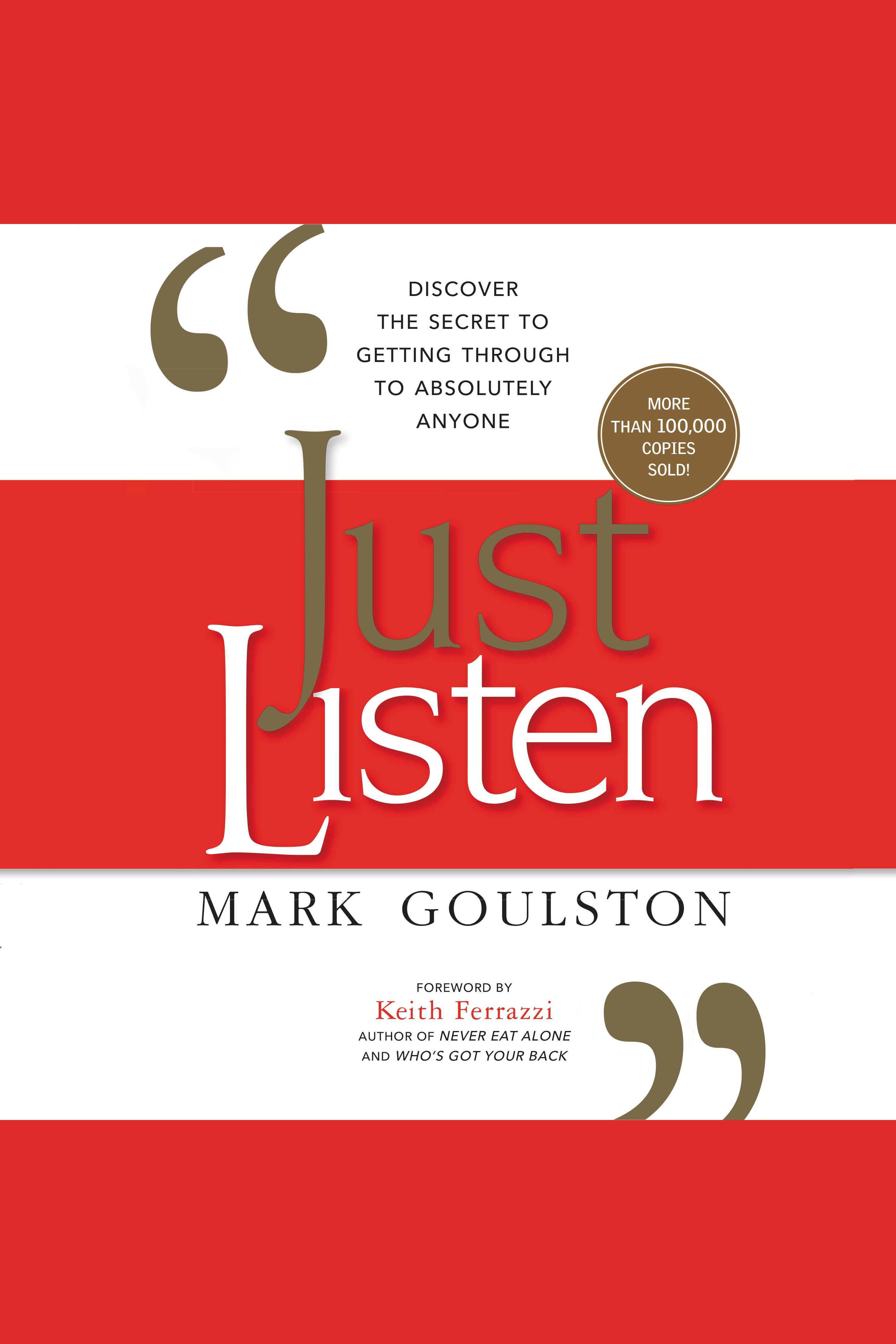 Esta es la portada del audiolibro Just Listen