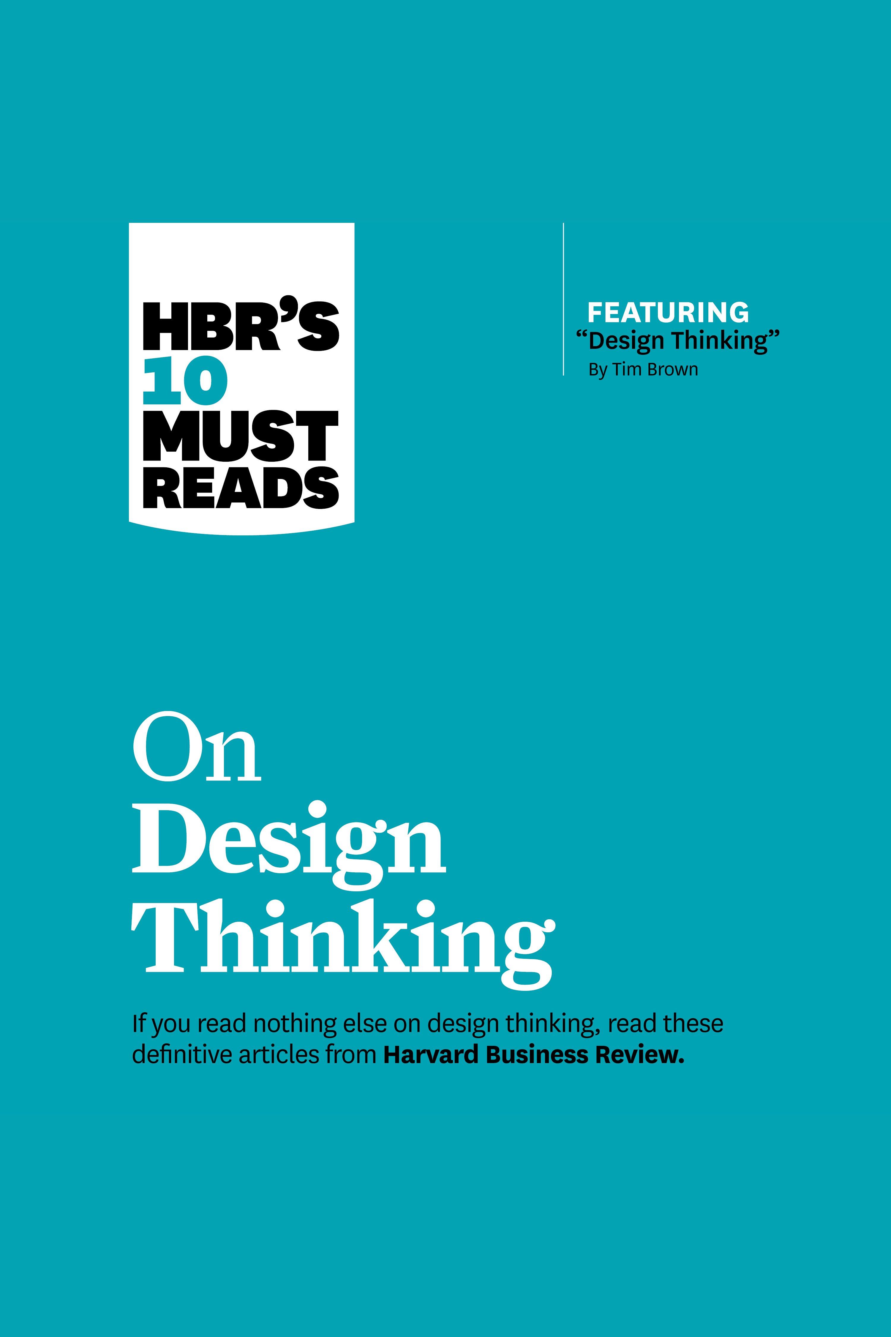 Esta es la portada del audiolibro HBR's 10 Must Reads on Design Thinking