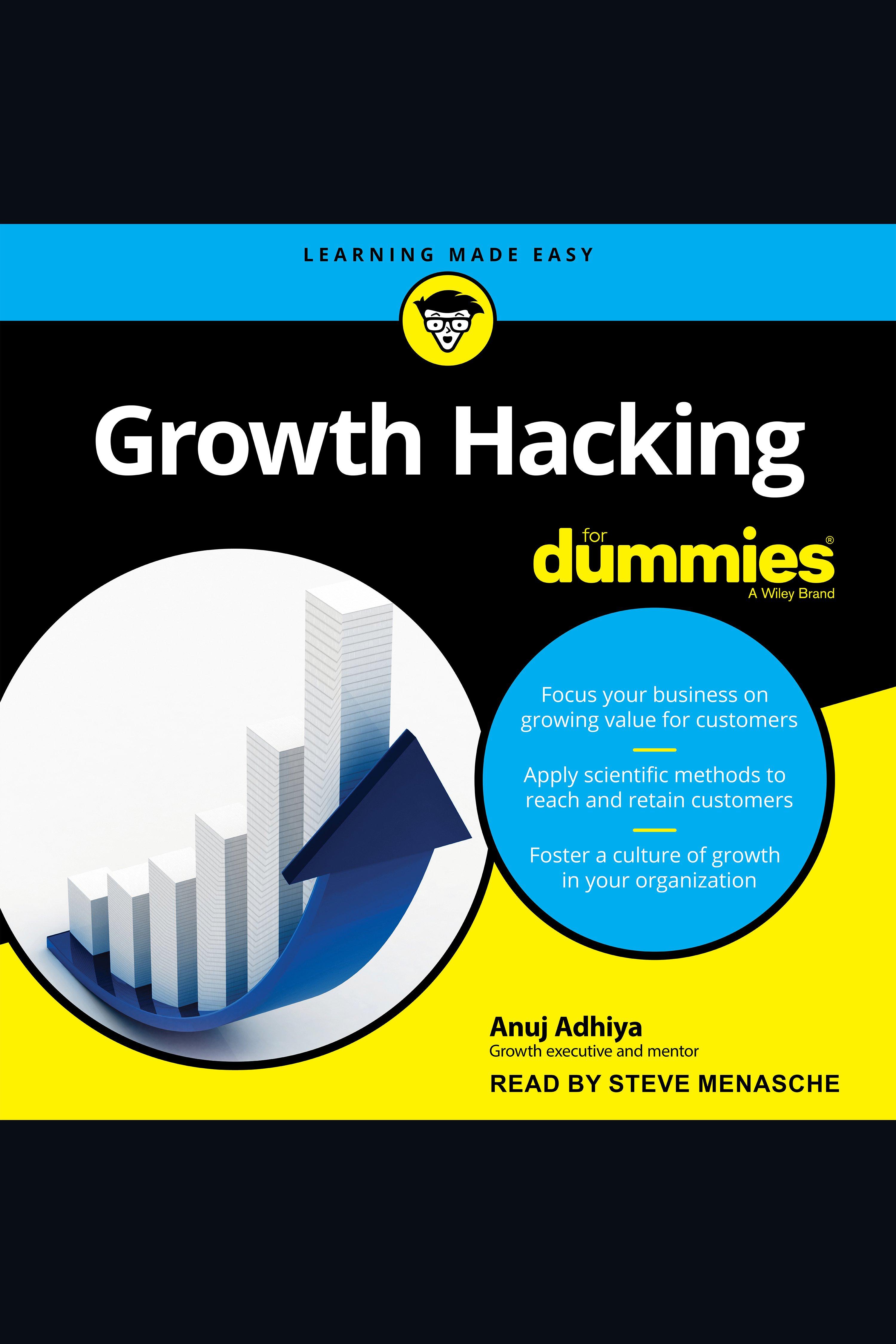 Esta es la portada del audiolibro Growth Hacking For Dummies