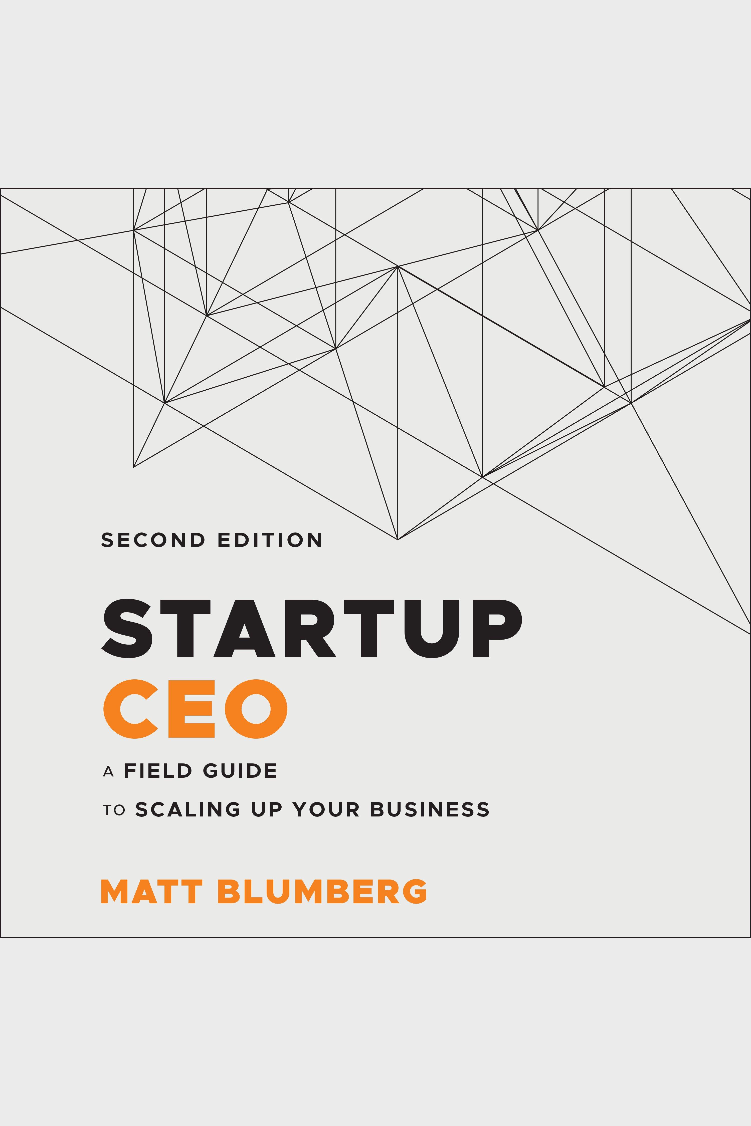 Esta es la portada del audiolibro Startup CEO