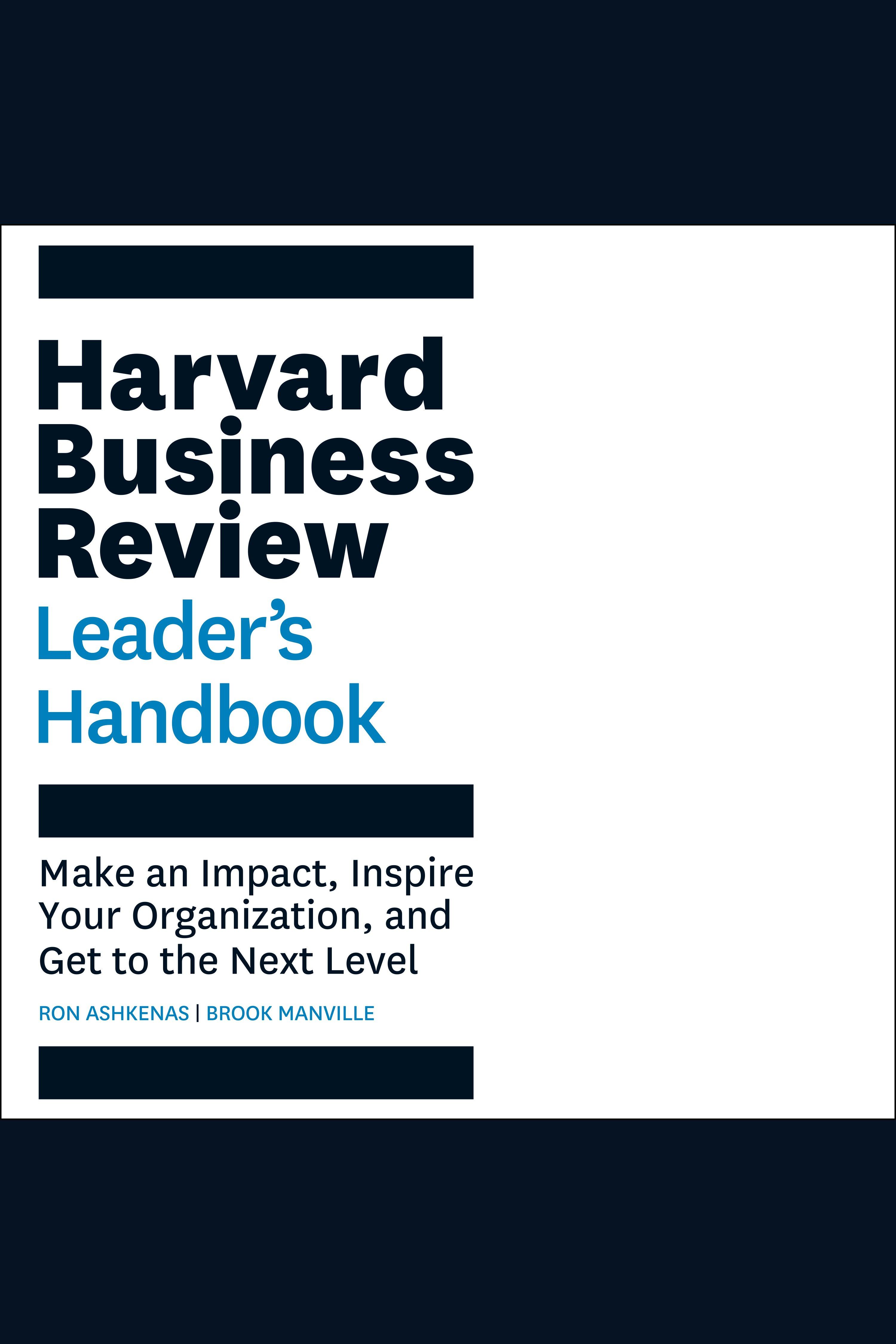 Esta es la portada del audiolibro Harvard Business Review Leader's Handbook, The