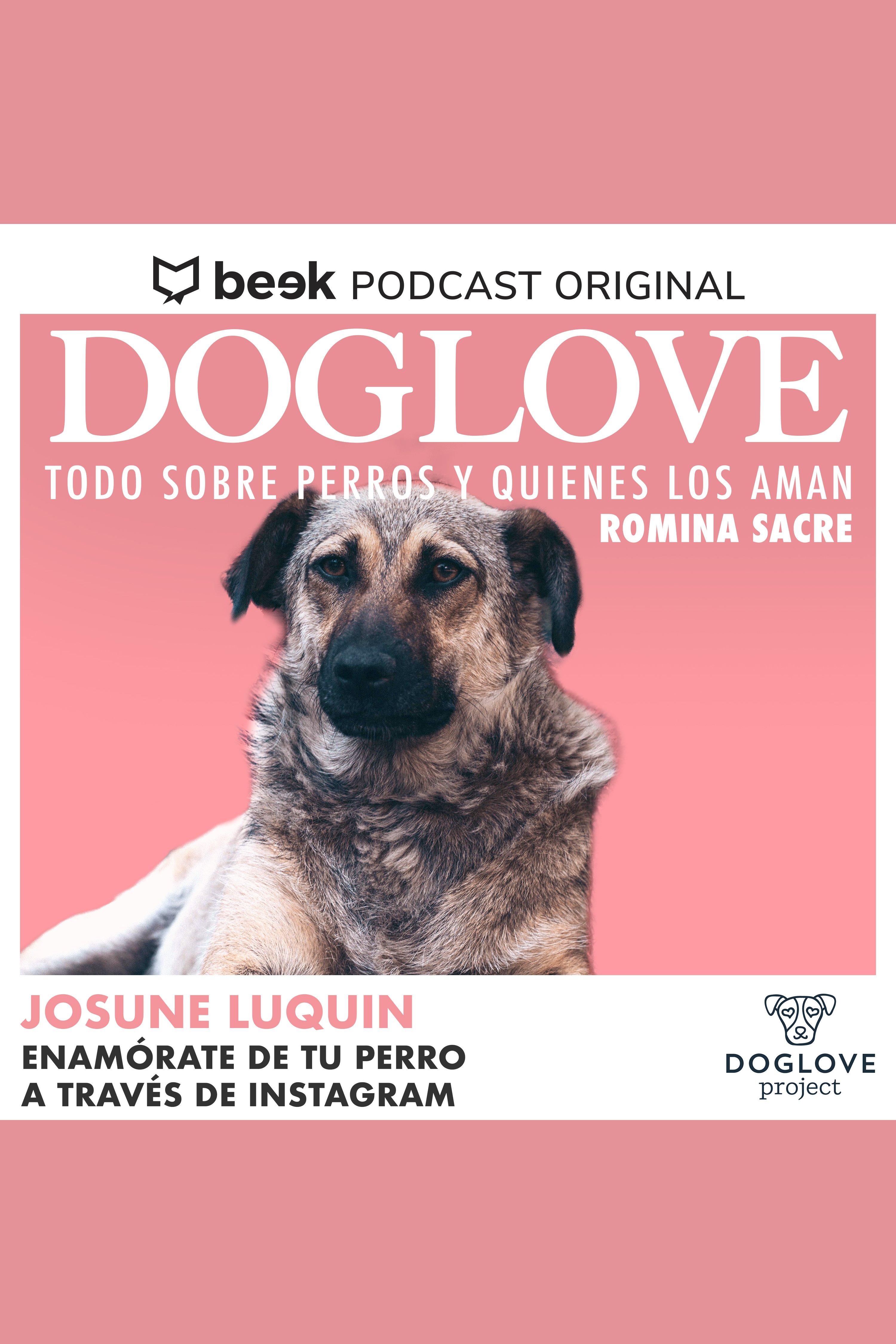 Esta es la portada del audiolibro Enamórate de tu perro a través de Instagram, con Josune Luquin