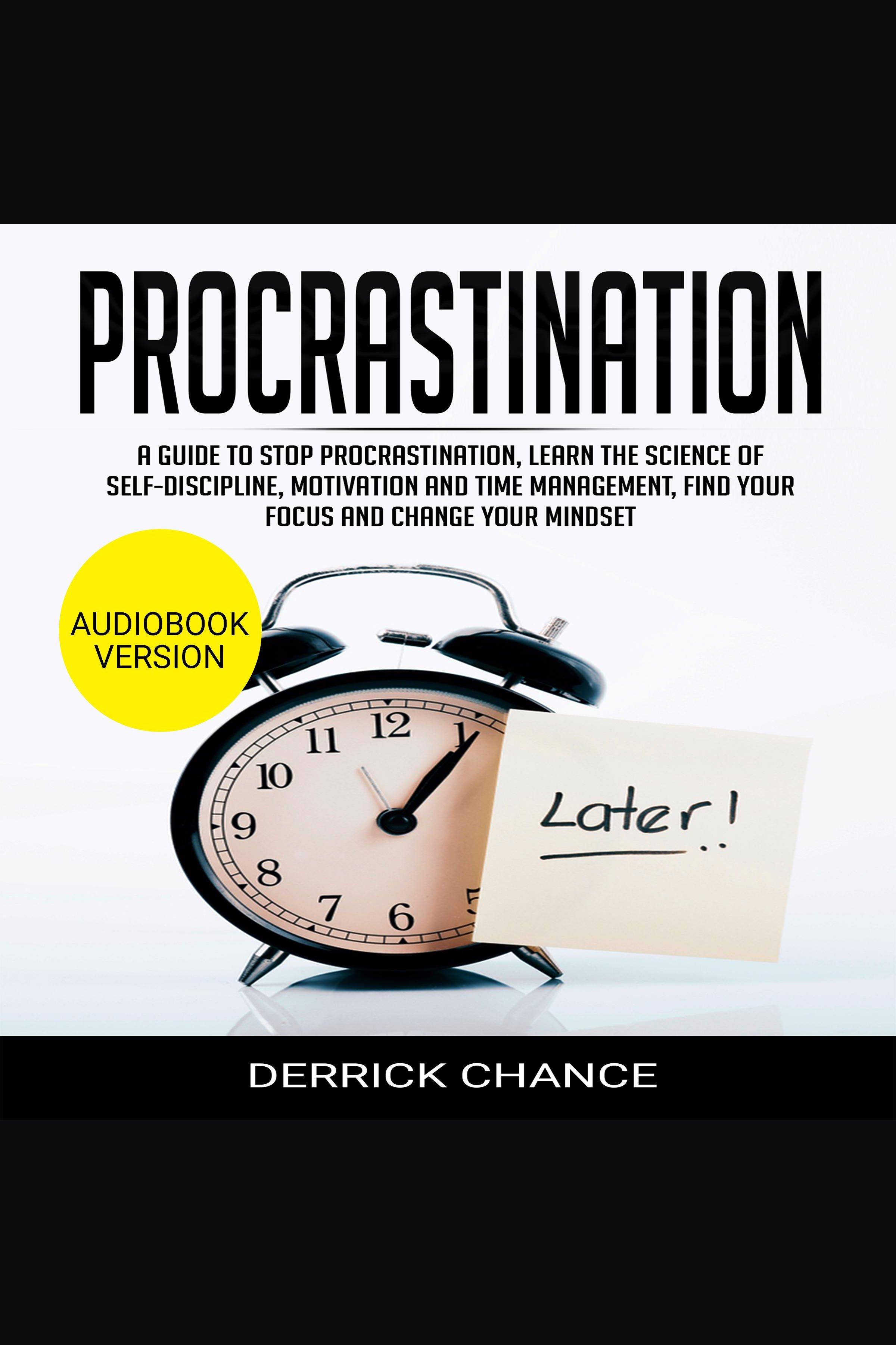 Esta es la portada del audiolibro Procrastination